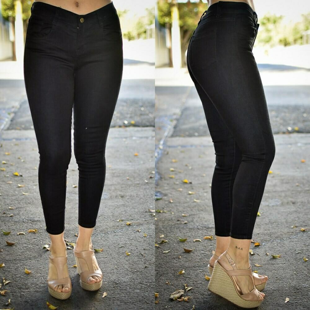 Pantalon tobillero negro MODELO 01211