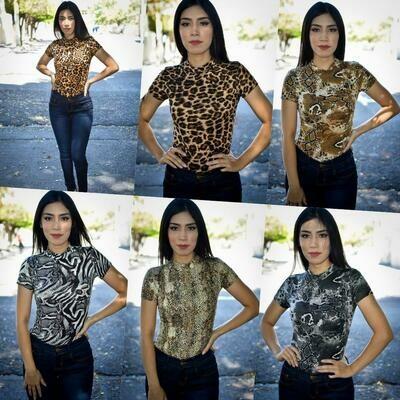 Panti blusa Animal print MODELO 01218