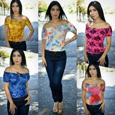 Blusa Campesina Tie Dye MODELO 01224