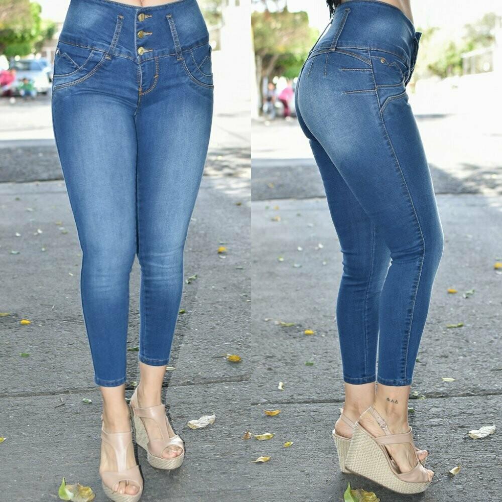 Pantalon Tobillero Pretina Alta modelo-01270