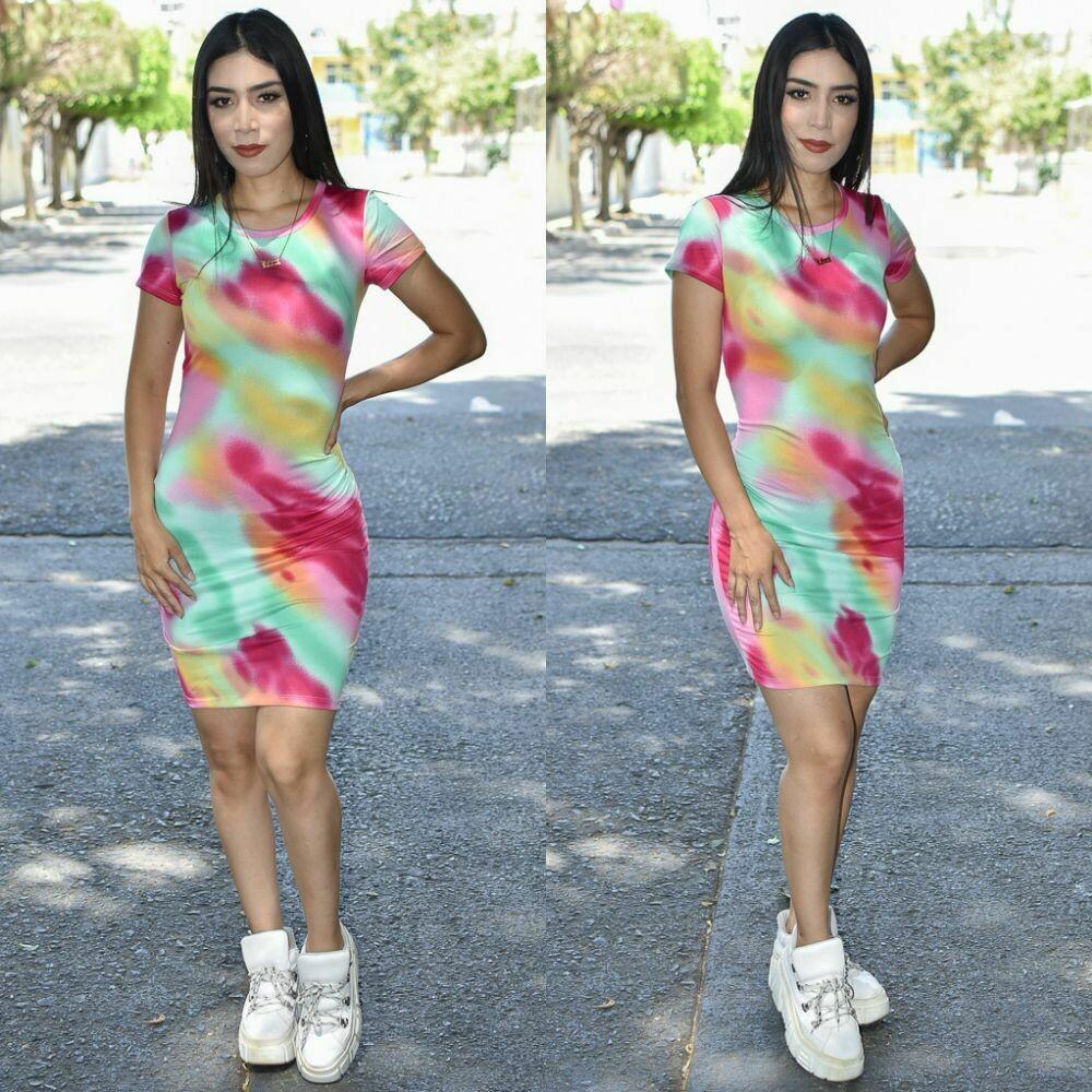 Vestido Tie dye corte Lapiz modelo 01284