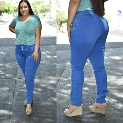 Pantalon curvy azul claro modelo N-340