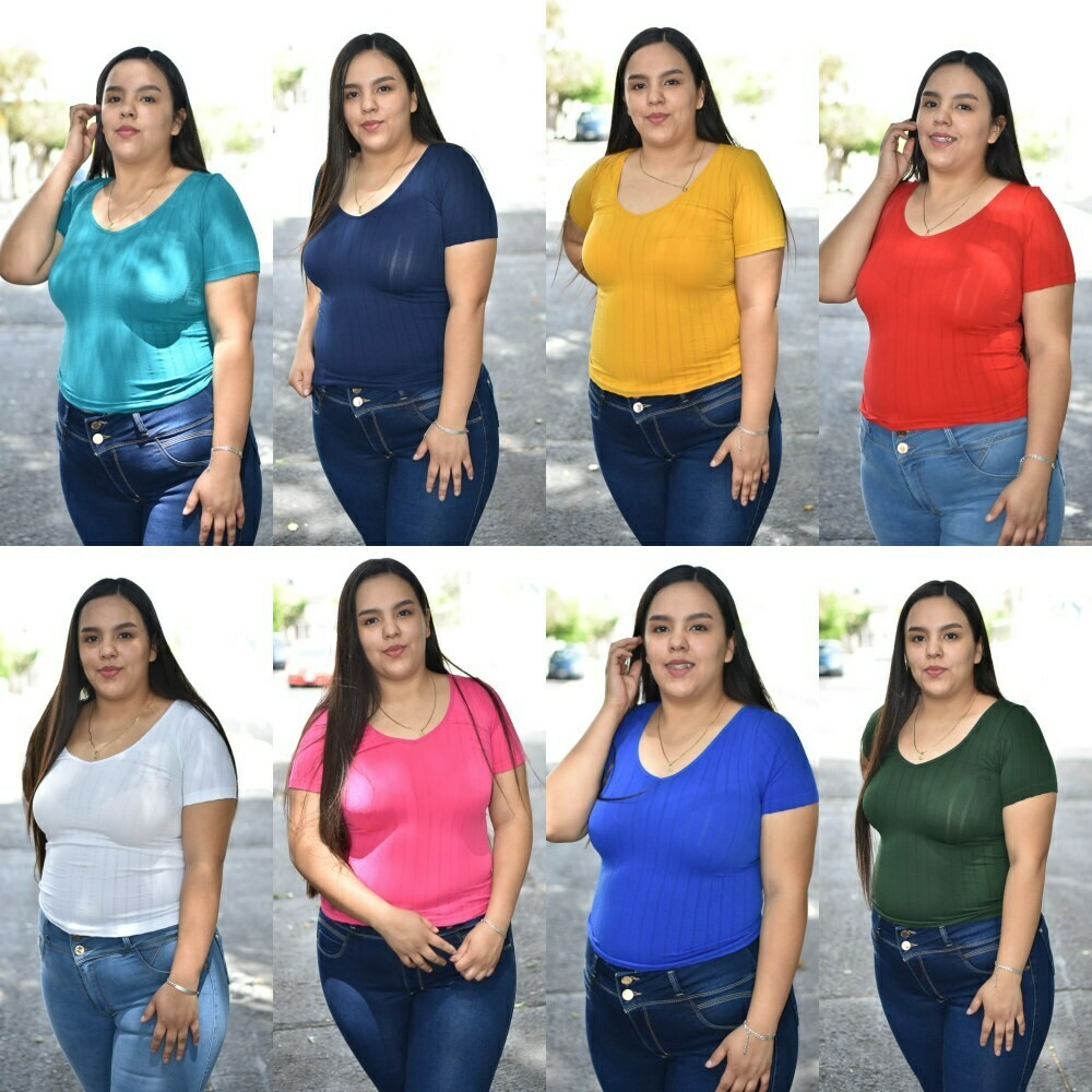Blusa Basica V MODELO 01228