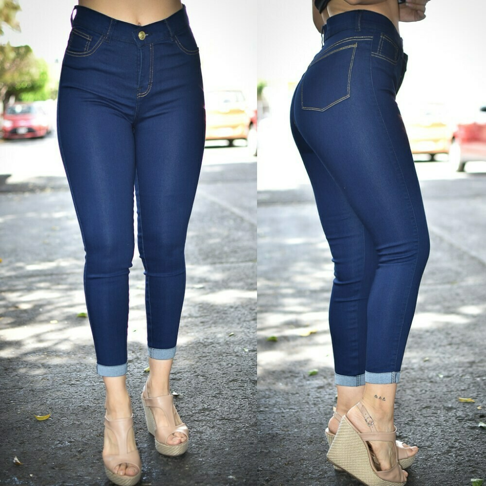 Pantalon tobillero con dobles liso MODELO 01301