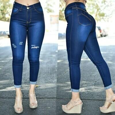 Pantalon tobillero con dobles modelo-01365