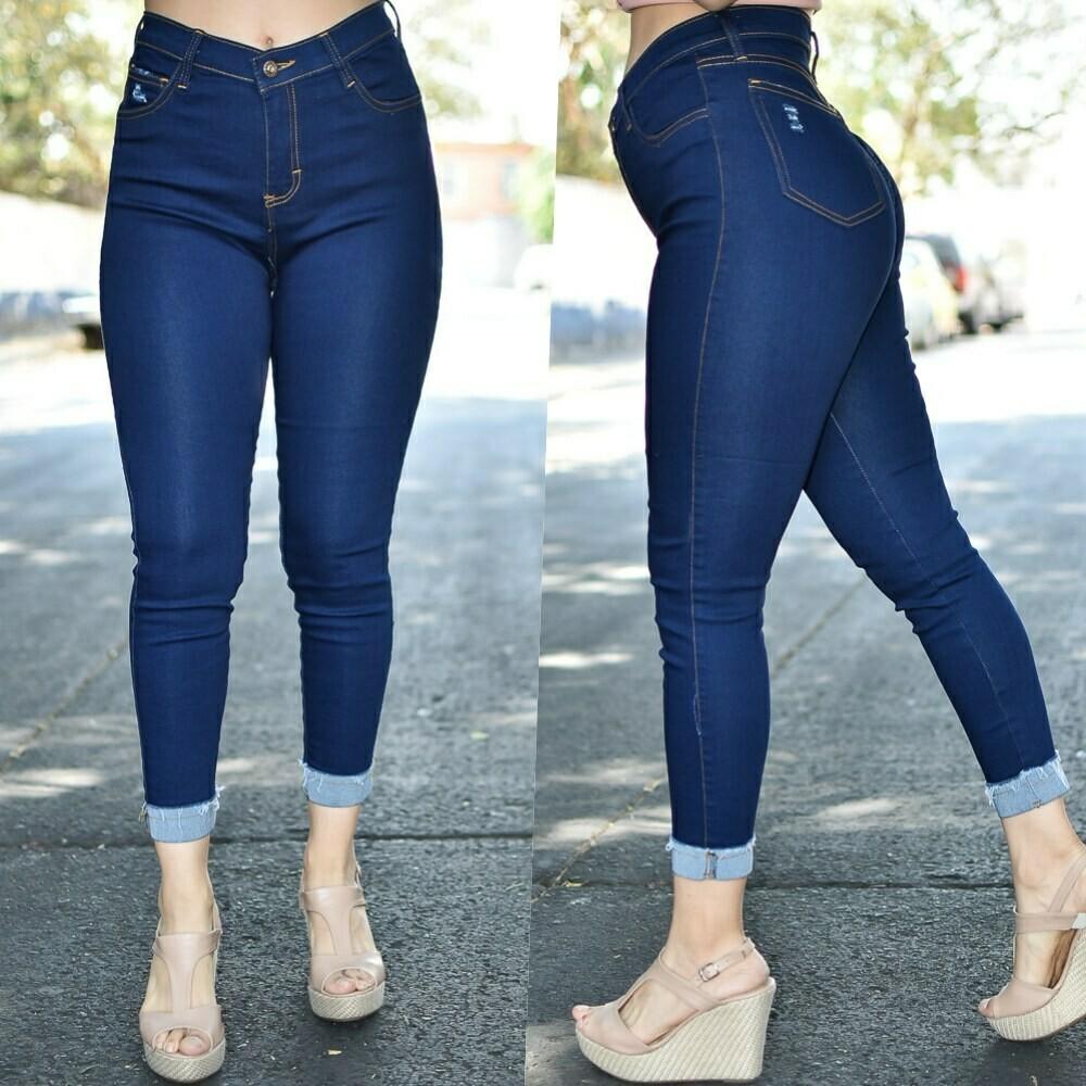 Pantalon de mezclilla con doble modelo-01367