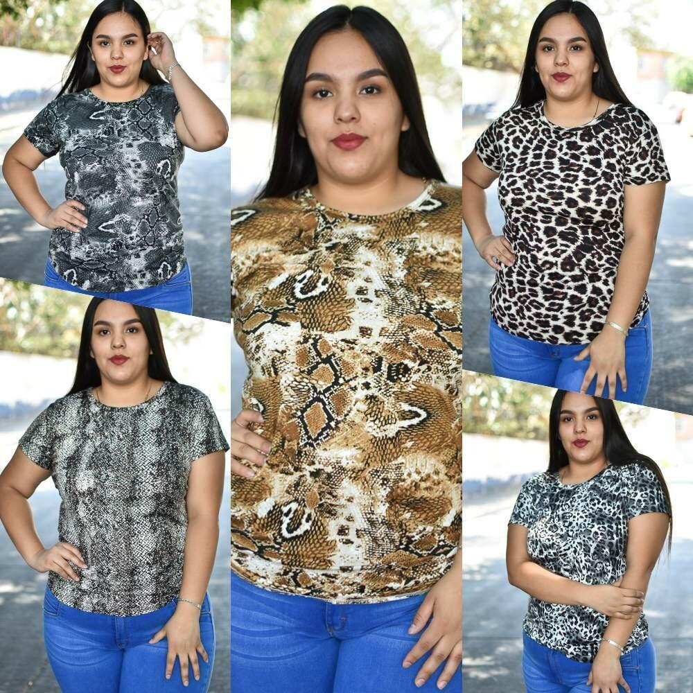 Blusa Curvy Animal Print modelo-