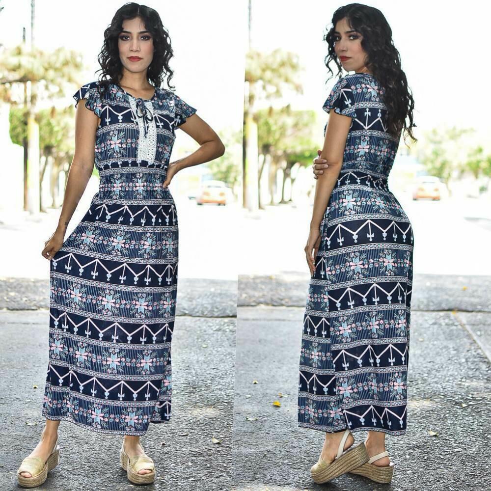 Maxi Vestido floreado MODELO ONE331-2