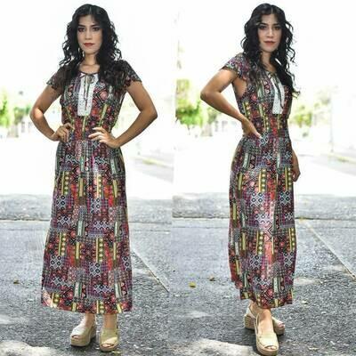 Maxi Vestido floreado MODELO ONE331-3
