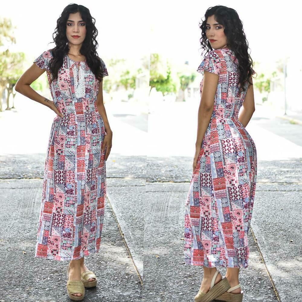 Maxi Vestido floreado MODELO ONE331-1