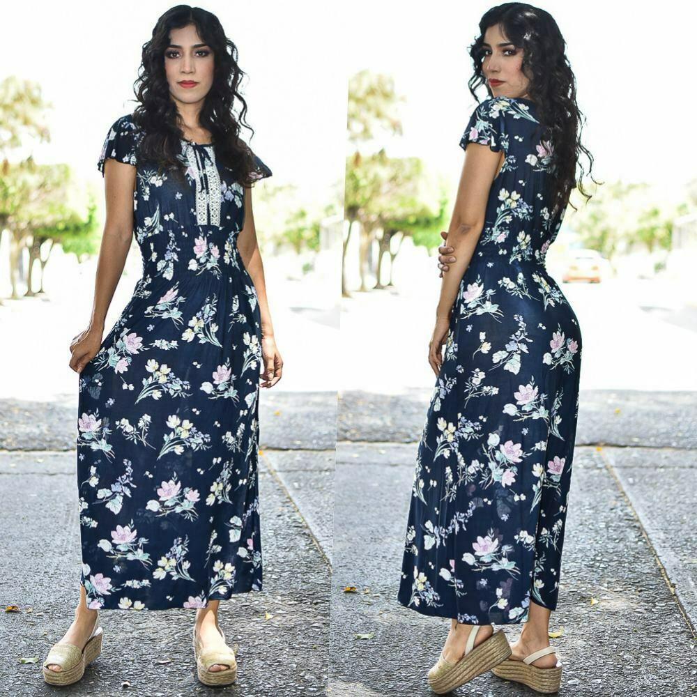 Maxi Vestido floreado MODELO ONE331-4