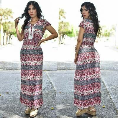 Maxi Vestido floreado MODELO ONE331-5