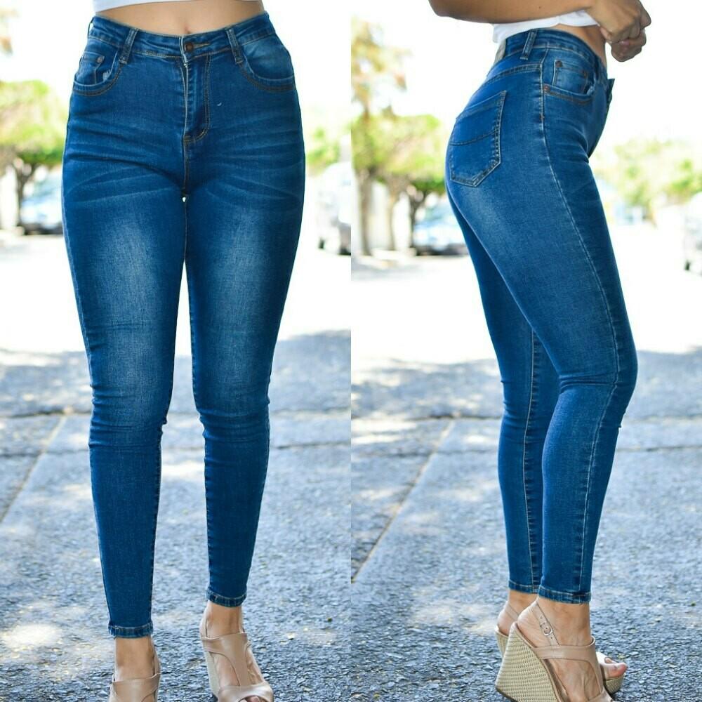 Pantalon de mezclilla a la cintura modelo-01394