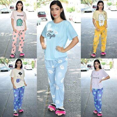 🎀Paquete con 10 Pijama de pantalon modelo 01478-10🎀