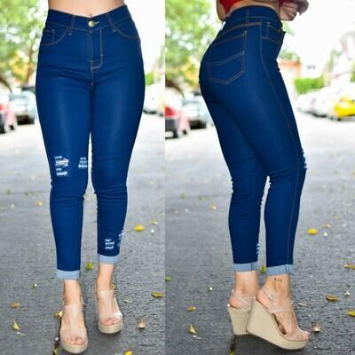 🎀 Pantalon Tobillero con destruccion 01487🎀