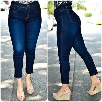 🎀 Pantalon Tobillero con delavado 01539🎀