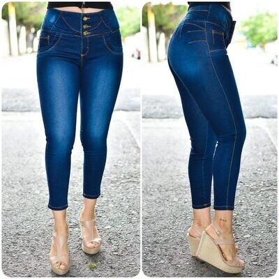 🎀 Pantalon Tobillero con 3 botones 01541🎀