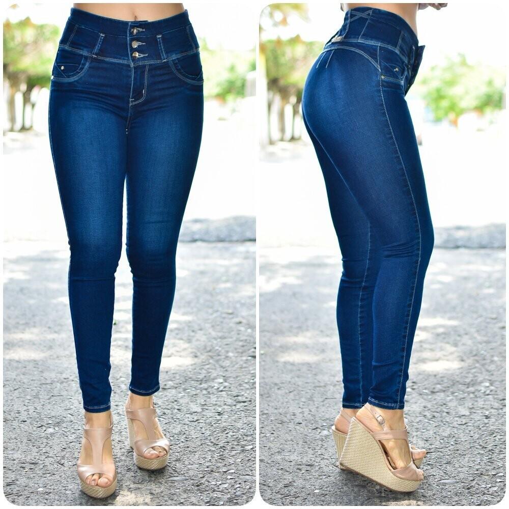 🎀 Pantalon de mezclilla a la cintura liso modelo-01544🎀