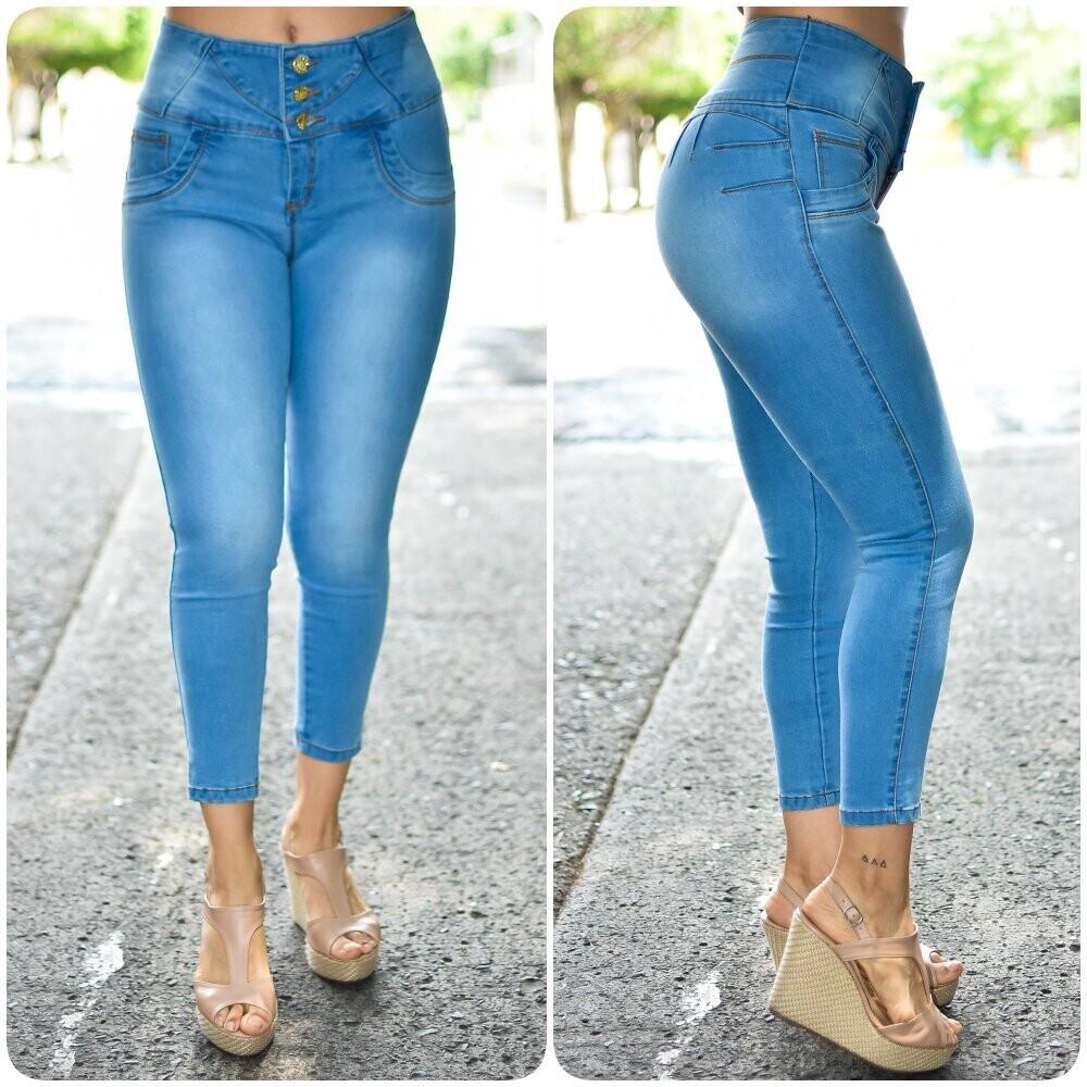 🎀 Pantalon Tobillero con delavado 01540🎀