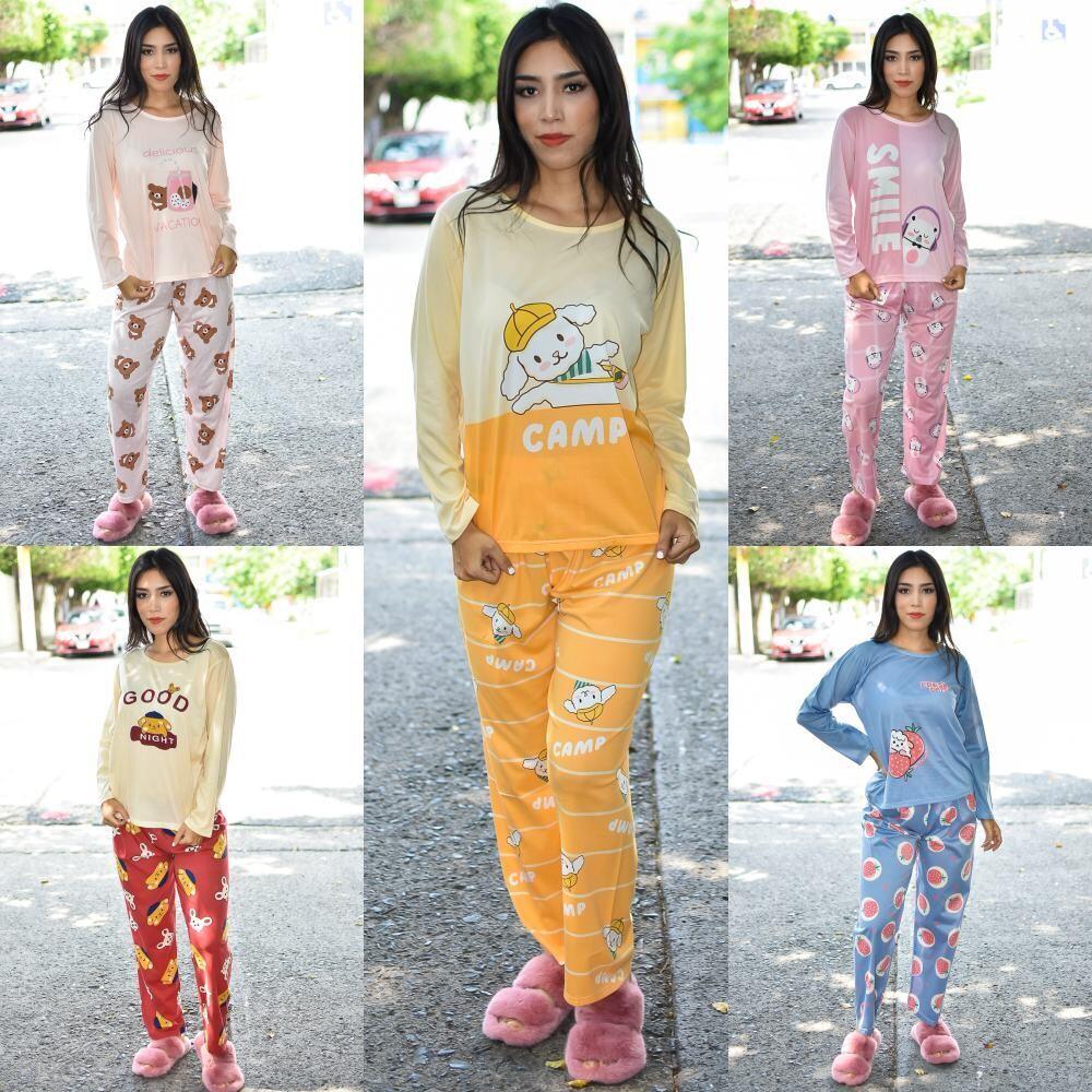 🎀 Paquete de 10 Pijama Manga larga Duo pantalon y blusa modelo-01557-10🎀