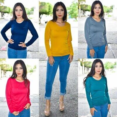 🎀 Blusa Termica Cuello Redondo modelo-KIM1🎀