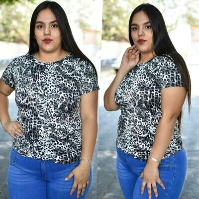 🎀 Blusa animal print curvy modelo-01571🎀