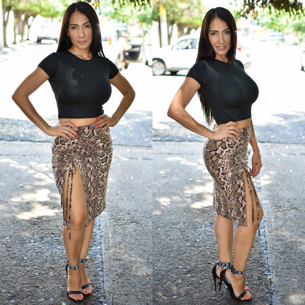 🎀 Conjunto de falda y blusa animal print modelo 01584🎀