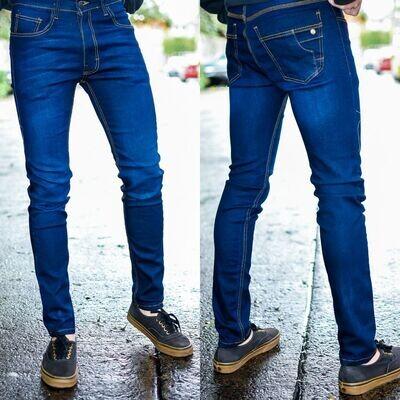 Pantalon para caballero Corte Skinny azul obscuro  Modelo 01674