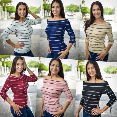 Blusa Rayas modelo NIT203