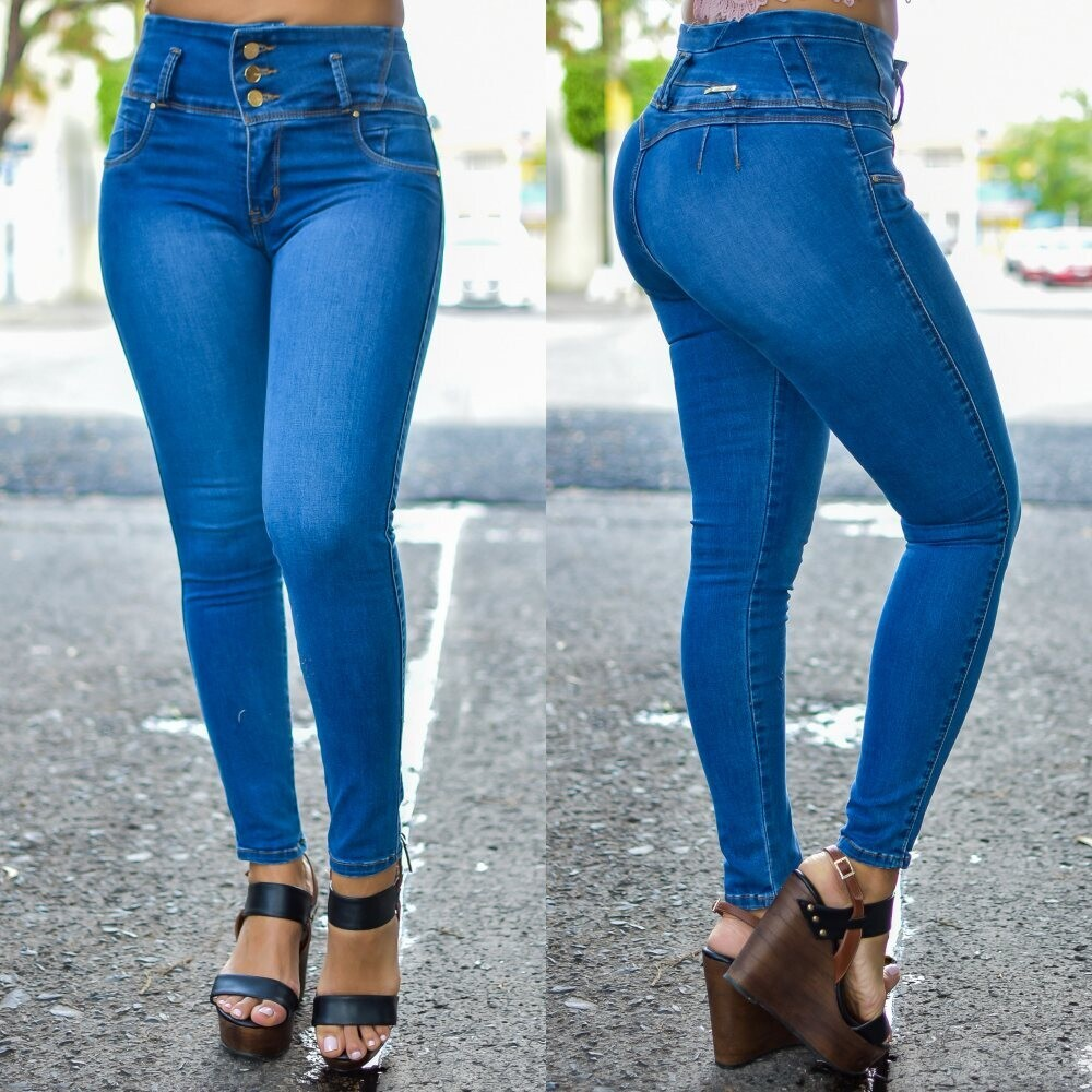 Pantalon pretina alta Americano Modelo 01693