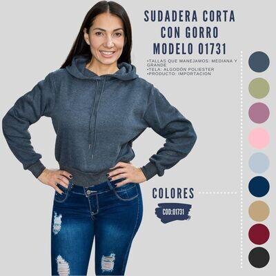 Sudadera Corta con gorro Modelo 01731
