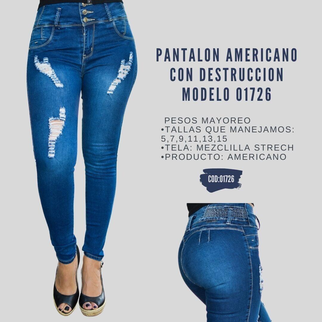 Pantalon Americano con destruccion Modelo 01726