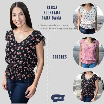 Blusa floreada para dama modelo -01746
