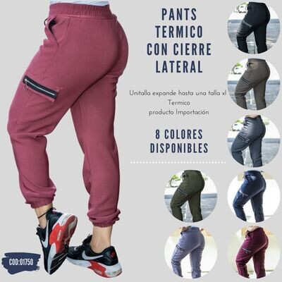 Pants Termico con cierre Modelo-01750