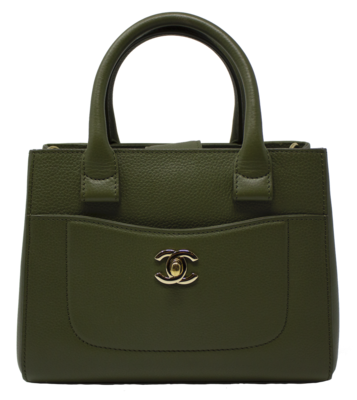 Chanel Army Green Mini Neo Executive Tote