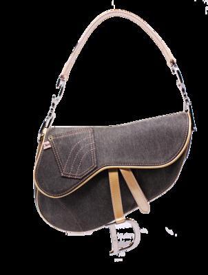 Christian Dior Pocket Denim Saddle Bag