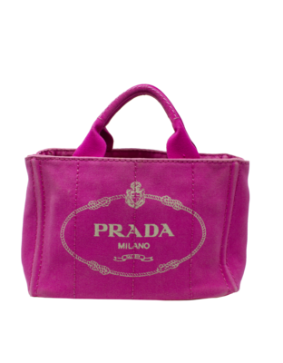 Prada Fuchsia Canapa Logo Garde