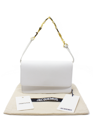 Jacquemus Runway White Le Sac Riviera Bag