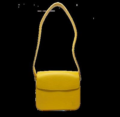 Louis Vuitton Yellow Epi Buci Shoulder Bag
