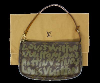 Louis Vuitton x Stephen Sprouse Green Monogram Graffiti Pochette