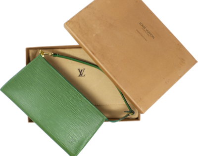 Louis Vuitton Green Epi Pochette