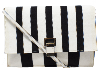 Proenza Schouler Black & White Striped Bag