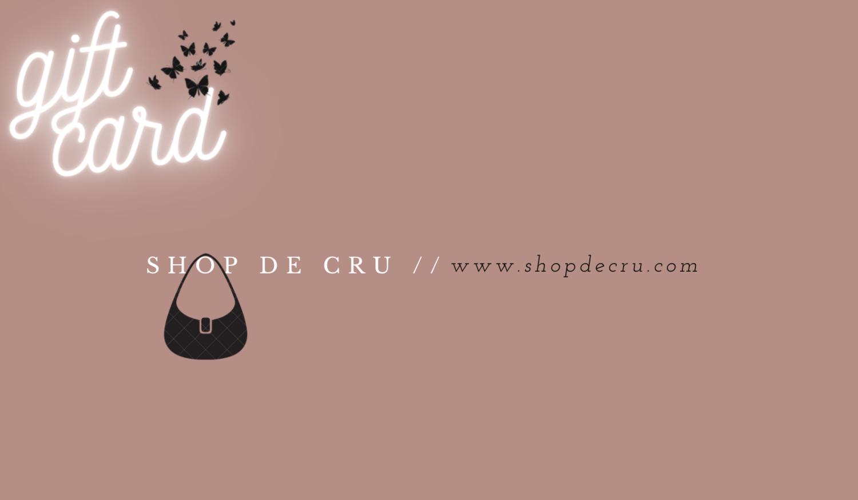 Shop De Cru Gift Card