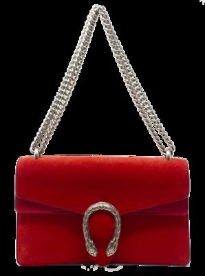 Gucci Dionysus Red Suede Shoulder Bag