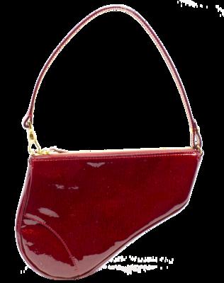 Christian Dior Rouge Diorissimo Logo Saddle Bag