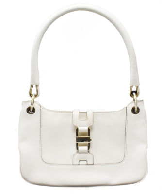 Gucci by Tom Ford White Jackie Baguette