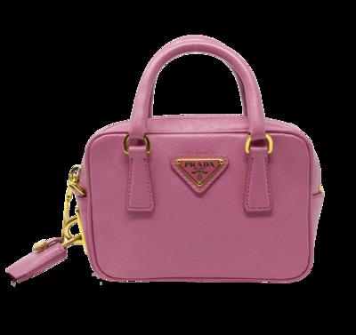 Prada Pink Saffiano Lux Mini Bag
