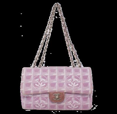Chanel Pink Medium Travel Ligne Flap Bag