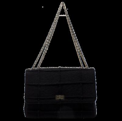 Chanel Limited Edition Jumbo Millennium Chocolate Bar Reissue 277 Flap Bag