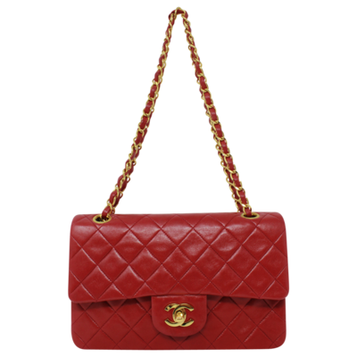 Chanel Small Red Double Flap Bag